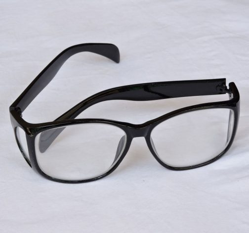عینک سربی بغلدار مشکی