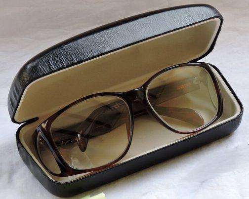 عینک سربی بغلدار رنگی با جعبه